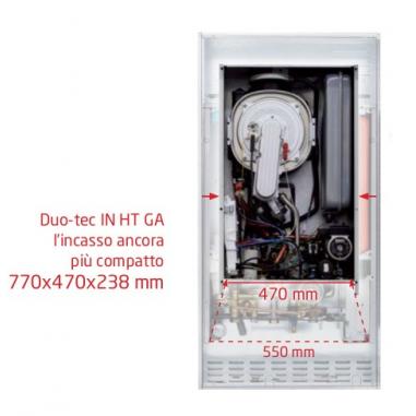 Caldaia Baxi Luna Duo-tec In+ 28 Ga A Condensazione Completa Di Kit Scarico Fumi