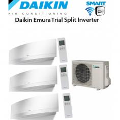 CLIMATIZZATORE DAIKIN TRIAL SPLIT 7+7+7 INVERTER EMURA WHITE wi-fi 7000+7000+7000 CON 3MXS52E