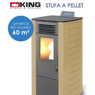 STUFA A PELLET KING 78 kW 7 sabbia per ambienti fino a 60 mq COD:9770