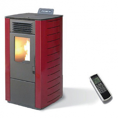 Stufa A Pellet King 98 Kw 9 Bordeaux...