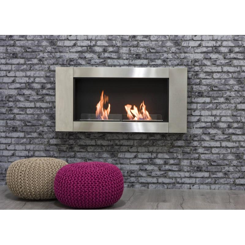 stufa camino a bioetanolo a parete mod long kw 3 5. Black Bedroom Furniture Sets. Home Design Ideas