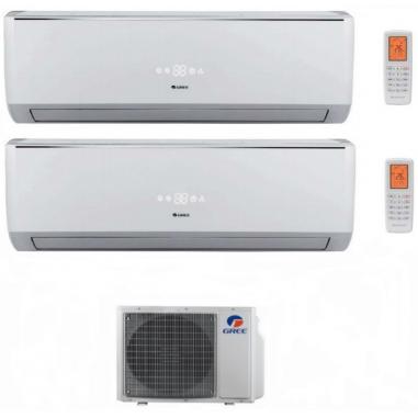 Climatizzatore Condizionatore Gree Dual Split Inverter Serie Lomo 9000+9000 Con Gwhd14nk3ko