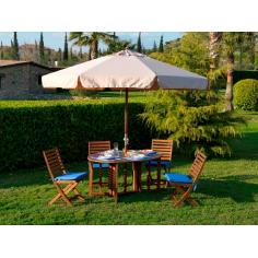 Ombrellone In Legno I Giardini Del Re 'island' Cm 300x300-8-48
