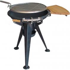 Barbecue In Acciaio Con Griglia Rotante Mod. Apollo 1