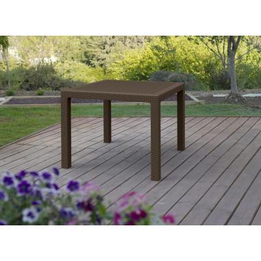 Tavoli Da Giardino In Resina.Tavolo Da Esterno Giardino In Resina Antiurto Effetto Polirattan Mod