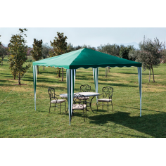 GAZEBO IN FERRO CON TOP IN POLIESTERE cm 200x200x250h COLORE VERDE