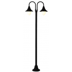 Lampione Da Esterno In Alluminio Cm 210 Serie Parigi Colore Nero