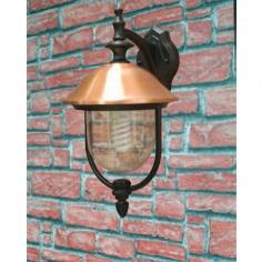 Lanterna Da Esterno In Alluminio E Rame Con Braccio Cm 25x28x45h Mod. Copper