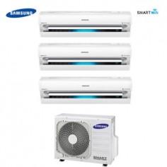 CLIMATIZZATORE TRIAL SPLIT SAMSUNG INVERTER Serie AR9000M SMART WIFI 9+9+9 con AJ068FCJ+staffa omaggio