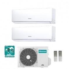 Climatizzatore Condizionatore Hisense Dual Split Inverter 12+12 Serie New Comfort 12000+12000 Btu Con 2amw58u4szd1 Classe A++