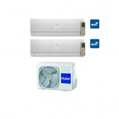 Climatizzatore Condizionatore Haier Dual 7+9 Serie Nebula White Inverter 7000+9000 Btu Con 2u18cs4era A++