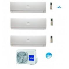 Climatizzatore Condizionatore Haier Trial 7+7+18 Serie Nebula White Inverter 7000+7000+18000 Btu Con 3u19cs4era A++