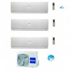 Climatizzatore Condizionatore Haier Trial 7+7+12 Serie Nebula White Inverter 7000+7000+12000 Btu Con 3u19cs4era A++