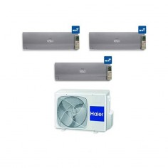 Climatizzatore Condizionatore Haier Trial 9+12+12 Serie Nebula Grey Inverter 9000+12000+12000 Btu Con 3u19cs4era A++