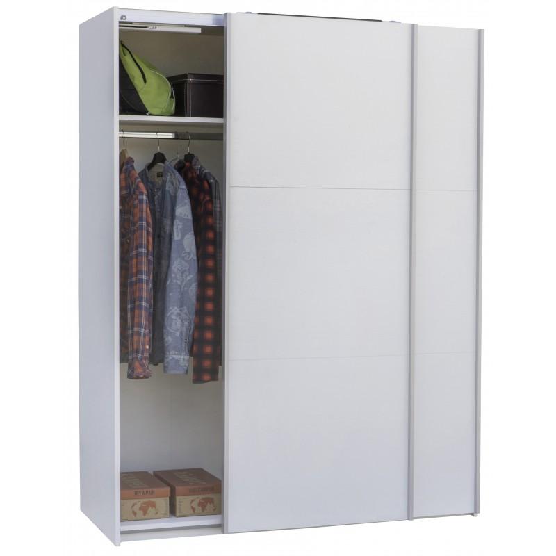 Armadio modello forma composad moderno con porte scorrevoli di colore bianco cod 93344 - Armadio con porte scorrevoli ...