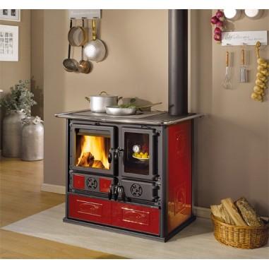 Cucina a legna la nordica extraflame modello rosa 4 1 2 colore bordeaux dx cod 47723 - Termostufe a legna nordica ...