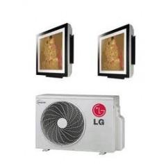 Climatizzatore Condizionatore Lg Dual Split 9+12 Inverter Art Cool Gallery 9000+12000 Btu Con Mu2m17