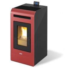 STUFA A PELLET KING 16 DA 15,5 KW BORDEAUX COD. 94348