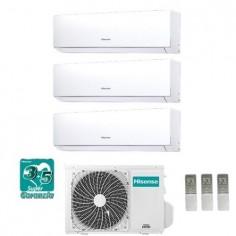 Climatizzatore Condizionatore Hisense Trial 9+9+12 Serie New Comfort 9000+9000+12000 Btu Con 3amw58u4szd1 Classe A++