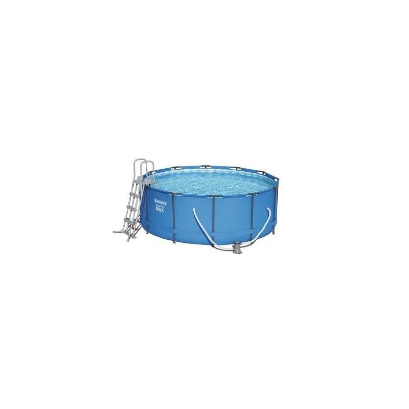 Piscina bestway steel pro max 56488 fuori terra da esterno rotonda con telaio in acciaio cm - Piscine in acciaio fuori terra ...