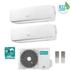 Climatizzatore Condizionatore Hisense Dual 9+9 Mini Apple Pie Da 9000+9000 Btu 2amw50u4rxa Gas R32 A++