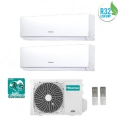 Climatizzatore Condizionatore Hisense Dual Inverter 9+9 Serie New Comfort 9000+9000 Btu 2amw50u4rxa Gas R32 A++ Wi Fi Ready