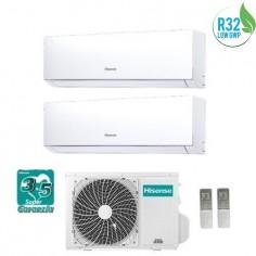 Climatizzatore Condizionatore Hisense Dual Inverter 9+12 Serie New Comfort 9000+12000 Btu 2amw50u4rxa Gas R32 A++ Wi Fi Ready