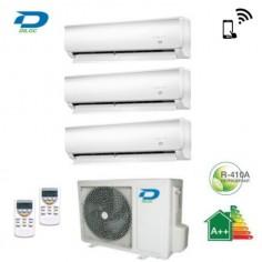 CLIMATIZZATORE CONDIZIONATORE DILOC TRIAL SPLIT 9+9+9 INVERTER WALL 9000+9000+9000 BTU CON WALL-OUT300 A++ Wi-Fi READY