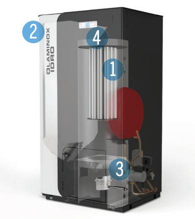 Caldaia a pellet laminox modello termoboiler 24 kw matic for Acciaio corten prezzo al kg